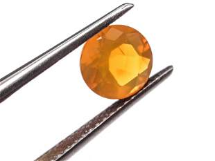 Loose 0.90 ct. Round Faceted Fire Opal Stone
