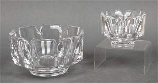 "Orrefors ""Corona"" Modern Crystal Bowls, Set of 2"