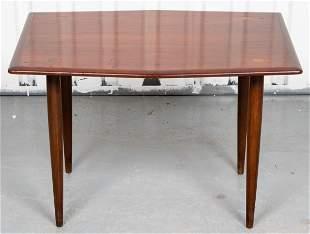Mid-Century Modern Stained Teak Side Table
