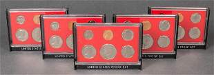United States Mint 1981 Proof Set, Group of Five