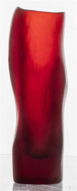 Dinosaur Designs Ruby Red Resin Vase