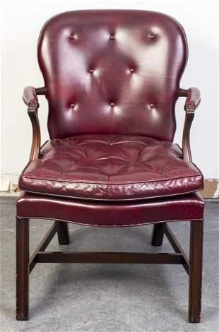 Georgian Style Upholstered Armchair