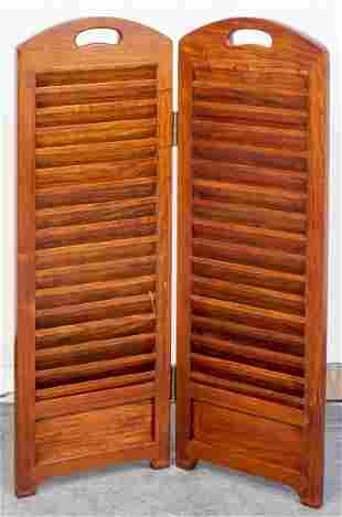 Two Panel Screen Of Small Proportions