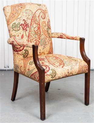 Thomas Glenister Georgian Style Mahogany Armchair