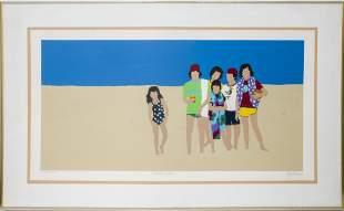 """Gail Bruce """"Beach Kids"""" Serigraph"""