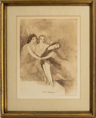 "Marie Laurencin ""Three Dancers"" Aquatint Etching"