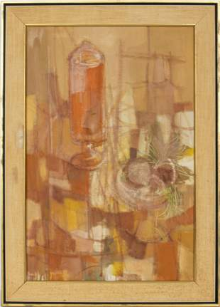"""Beverly Yunich """"Yellow Still Life"""" Oil on Canvas"""