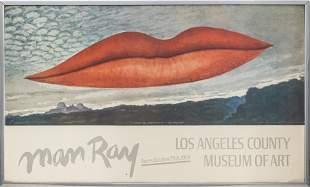 "Man Ray ""Lips"" LACMA Exhibition Poster, 1966"