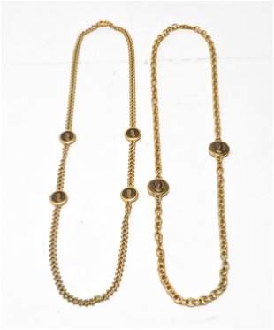 VB Costume Gold-Tone Roman Coin Necklaces, 2
