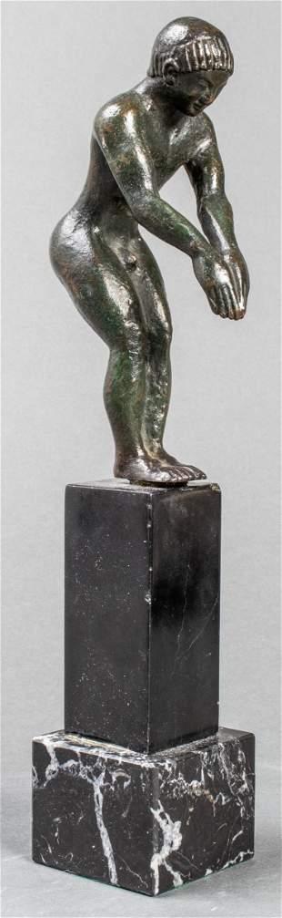Grand Tour Etruscan Bronze Diving Figure