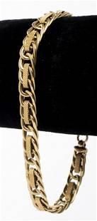 Italian 14K Yellow Gold Fancy Link Bracelet