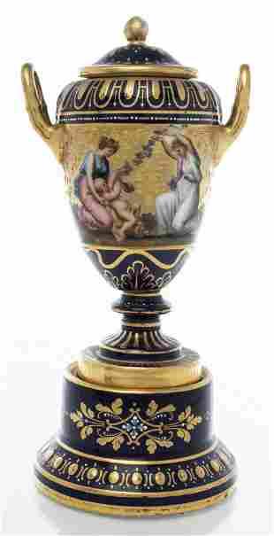 Royal Vienna Porcelain Urn, Mythological Scene