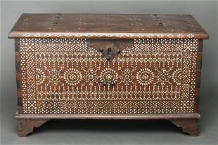 Anglo-Indian Mother of Pearl Inlaid Chest
