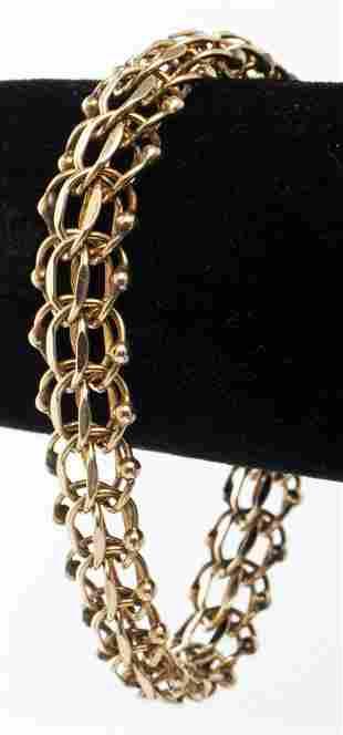 Vintage 14K Yellow Gold Charm Link Bracelet