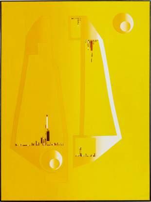 """Mario Grimaldi """"Love City"""" Mixed Media on Canvas"""