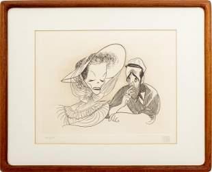 """Al Hirschfeld """"The African Queen"""" Etching"""
