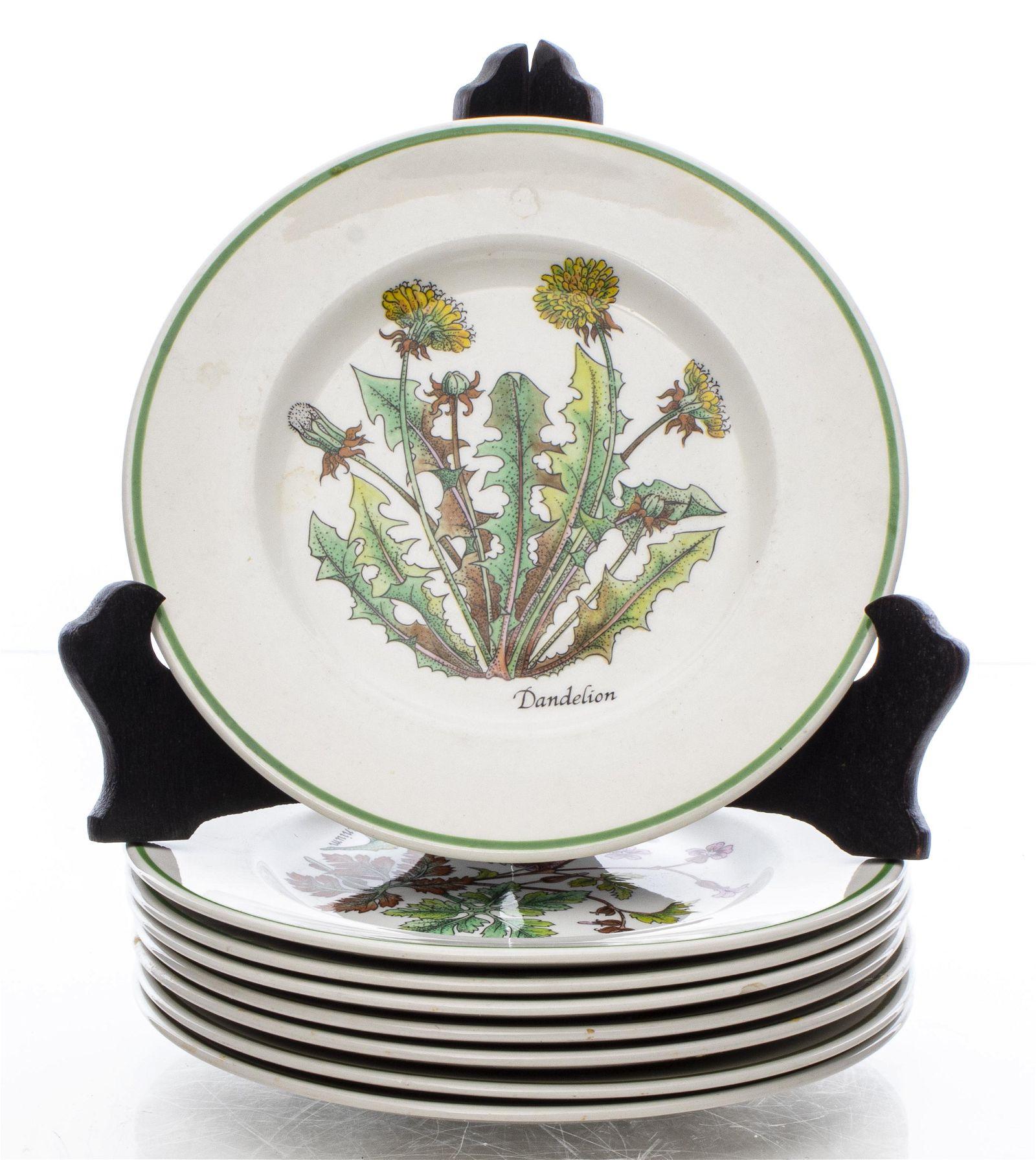 "Tiffany & Co. ""Herbs"" & ""Wildflowers"" Plates, 8"