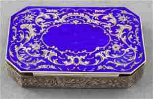 Austrian Enamel & Silver Snuff Box