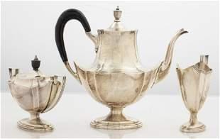 Gorham Sterling Silver Tea Service, 3 Pcs.