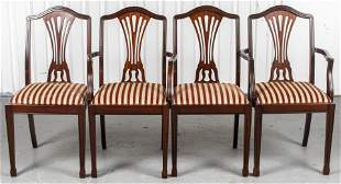 Georgian Style Mahogany Dining Chairs, 4