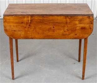 Provincial Fruitwood Drop Leaf Table