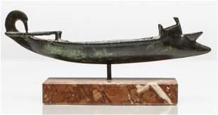 Ancient Roman Style Bronze Oil Lamp