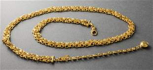 Gianni Versace Gold-Tone Chain Link Belt