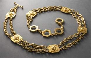 "Gold-Tone ""Hardware"" Chain Link Belt"
