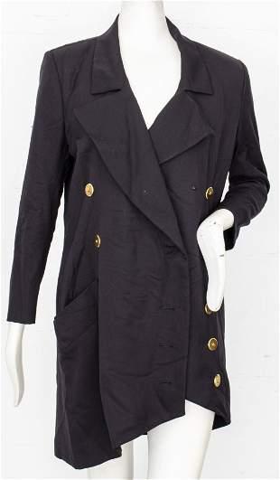 Yves Saint Laurent Asymmetrical Black Jacket