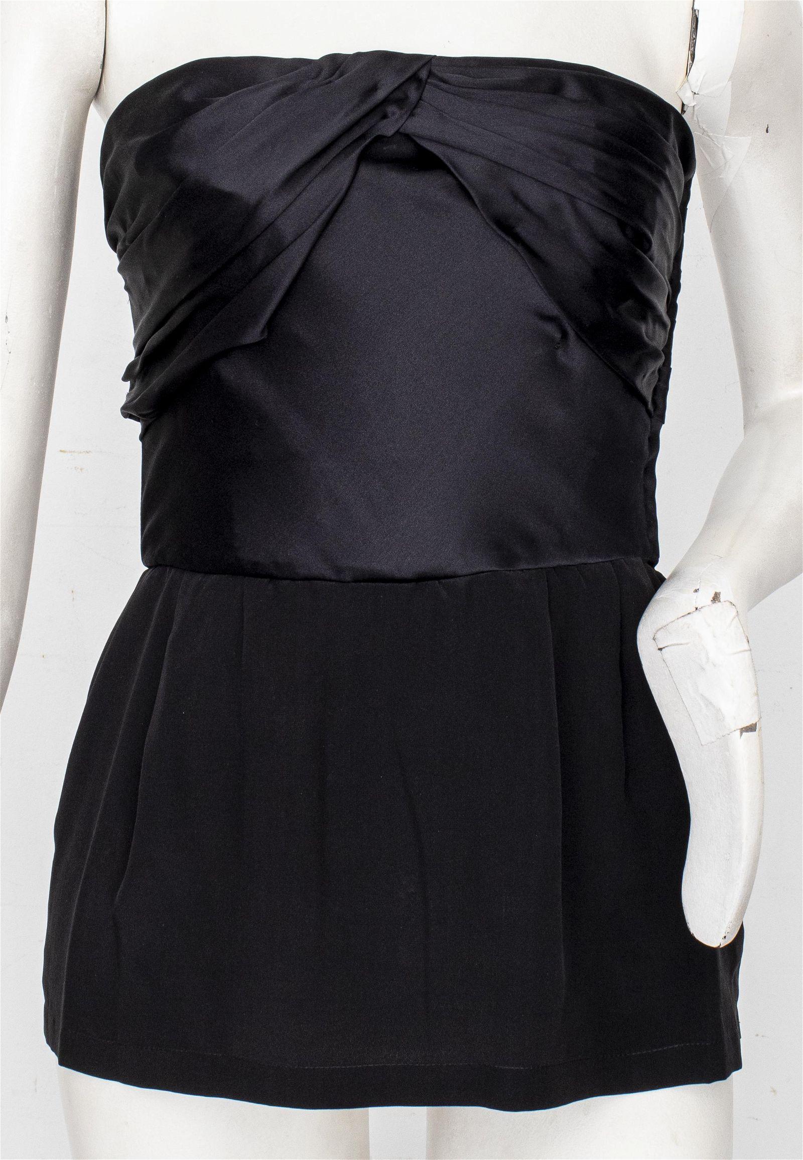 Givenchy Nouvelle Boutique Black Silk Bustier