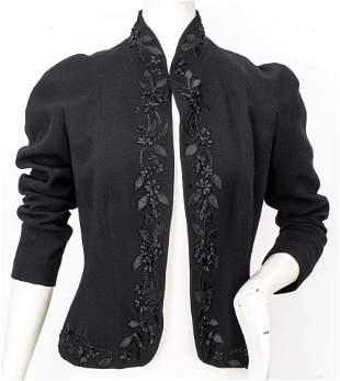 John Galliano Wool Embroidered Evening Jacket