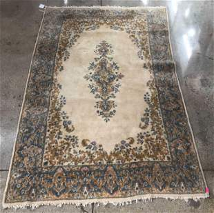 "Kerman Wool Carpet, 4' 11"" x 2' 11"""