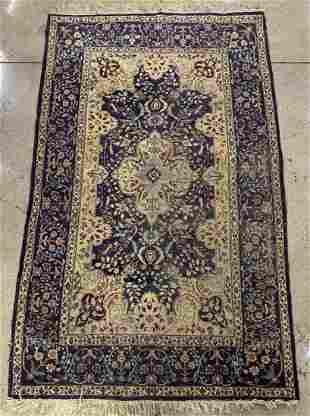 "Persian Floral Rug, 7' x 4' 5"""