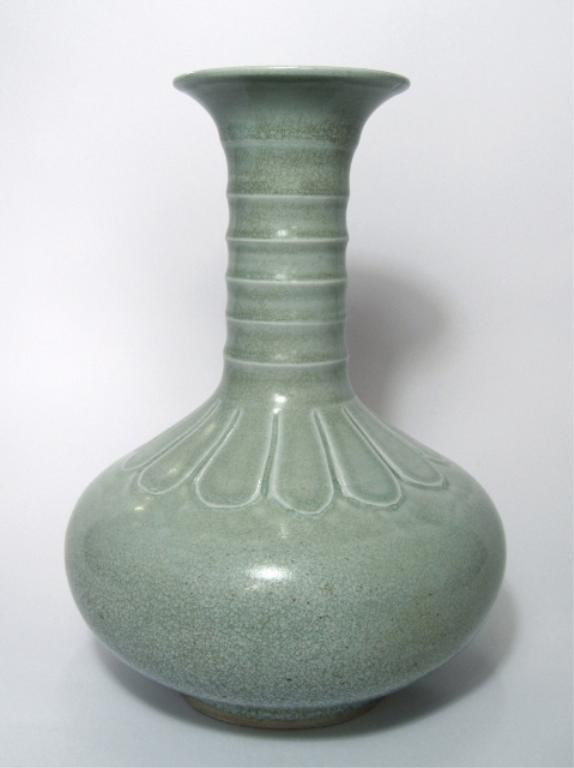 Chinese Celadon Long-Quan Porcelain Vase