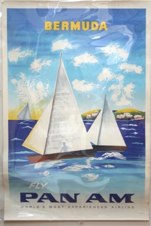 """Pan Am - Bermuda"" Travel Poster 1950"