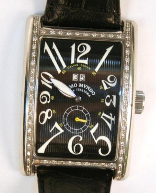 Ritmo Mvndo Men's Stainless Steel Diamond Watch - 10