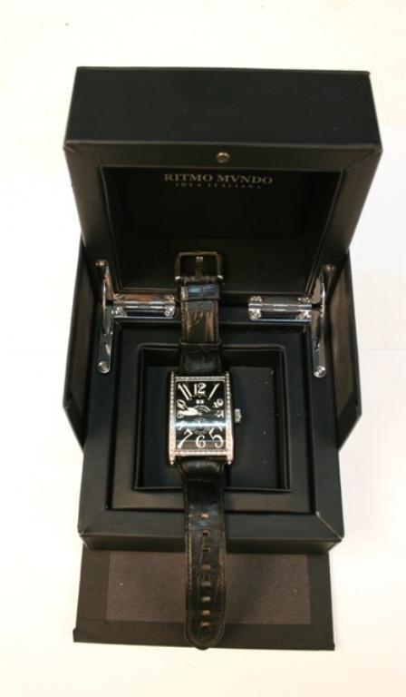 Ritmo Mvndo Men's Stainless Steel Diamond Watch