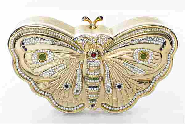 Judith Leiber Crystal Butterfly Minaudiere