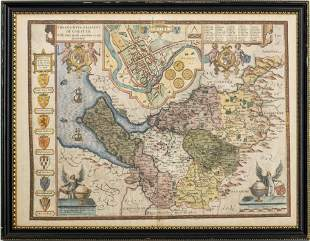 "John Speed ""The Countye Palatine of Chester"" Map"