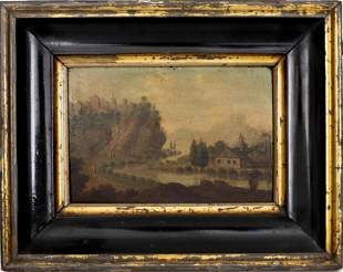 Cornelis Saftleven Attr Oil on Panel Dutch 17th C.