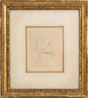 "Pierre-Auguste Renoir ""Berthe Morisot"" Etching"