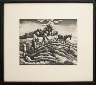 "Thomas Hart Benton ""Planting"" Lithograph"