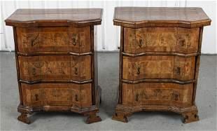 Italian Baroque Inlaid Cabinets, Pair