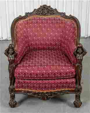 Karpen Furniture Attr. Victorian Carved Oak Chair