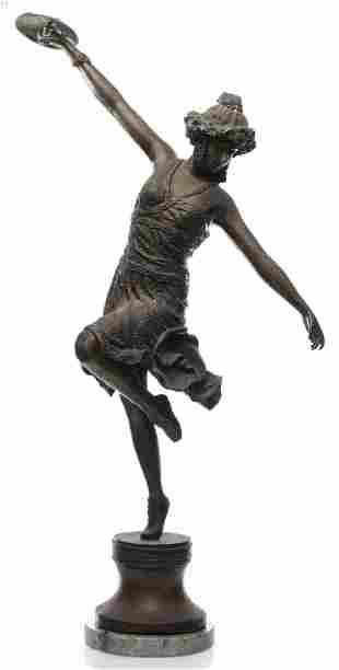 Mixed Metal Sculpture Of A Dancer