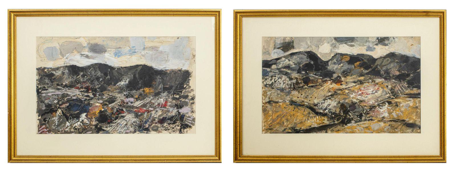 "Daniel Merino ""Spanish Landscapes"" Oil on Paper Pr"