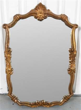 Continental Rococo Style Giltwood Mirror