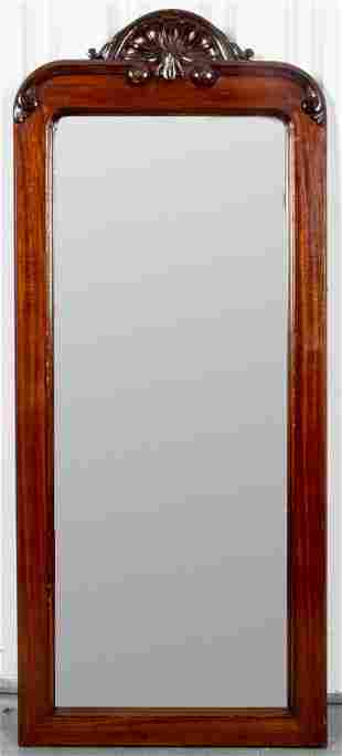 George III Style Carved Mahogany Pier Mirror