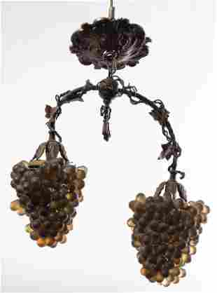 Italian Rococo Revival Grape Chandelier