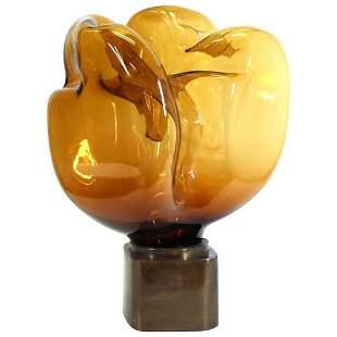 Mid-Century Modern Art Glass Sculpture